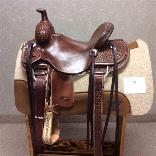 "12"" Jeff Smith Kid Saddle - Made with the same materials and trees of the adult saddles! Great youth saddle sits a nice deep smooth seat. Nice stainless steel hardware and strings. #13"