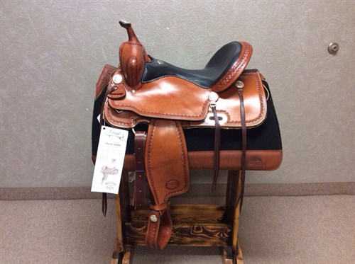 """16"""" #1537 Billy Cook Trail Saddle- This top quality trail saddle has minimal tooling with just enough silver to add some class.  With the deep, padded seat you'll hit the trails in comfort and look great too.  Full warranty (#1537)"""