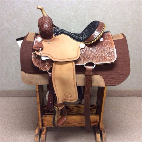 "#1410 Billy Cook 15"" - Great barrel saddle with the CJ tree."